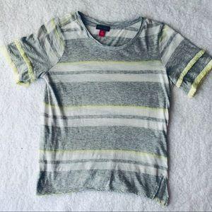 🌼 Vince Camuto | Gray & White Stripe Shirt